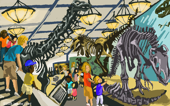 The first room of the dinosaurs hall, America Museum of Natural History