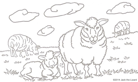 Coloring Pages of 2015 The Year of Sheep