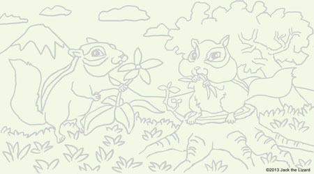Coloring Pages of Chipmunk
