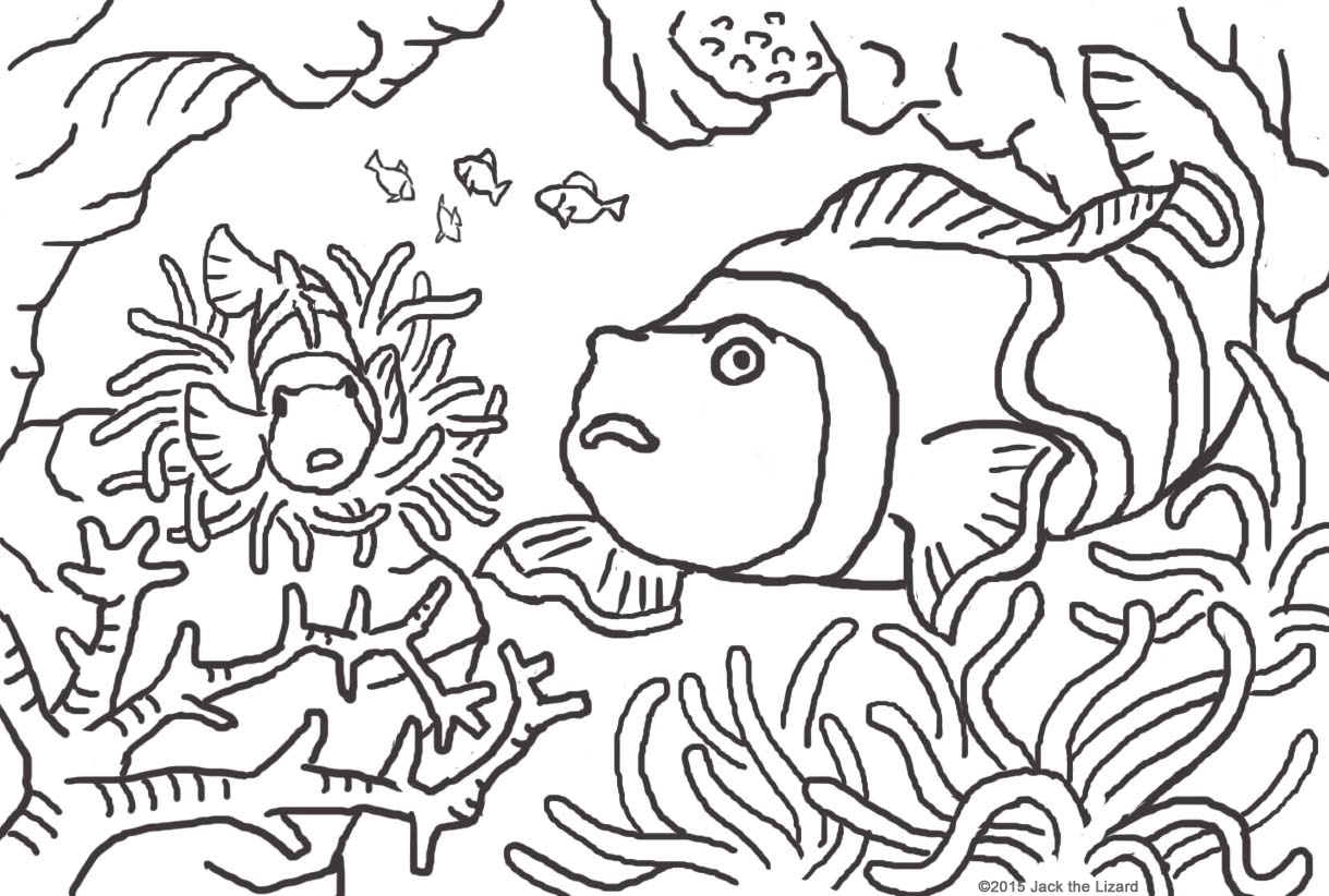 Coloring Pages of Pennant Crown Fish