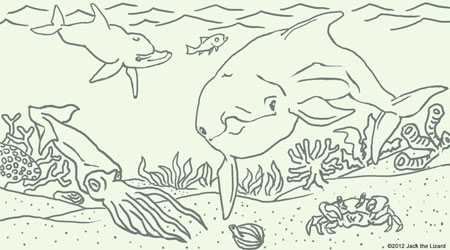 Coloring Pages of Dolphin