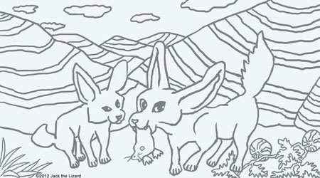 Coloring Pages of Fennec