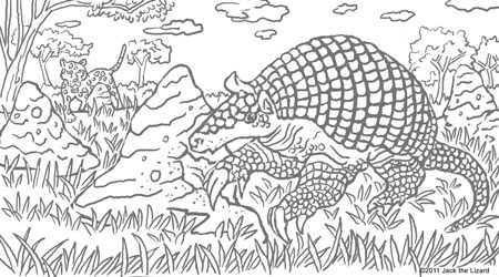 Coloring Pages of the Giant Armadillo