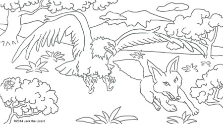 Coloring Pages of Golden Eagle