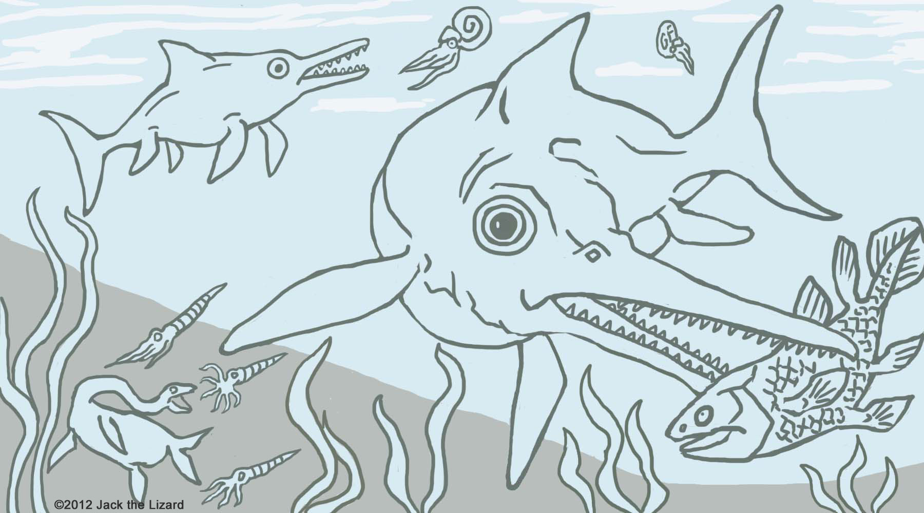 Coloring Pages of Ichthyosaurus