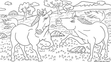 Coloring Pages of Przewalski's Horse