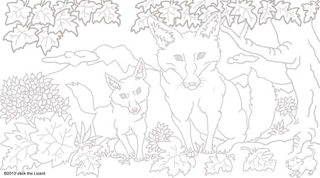 Coloring Pages of Red Fox