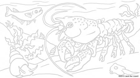Coloring Pages of Red swamp crawfish