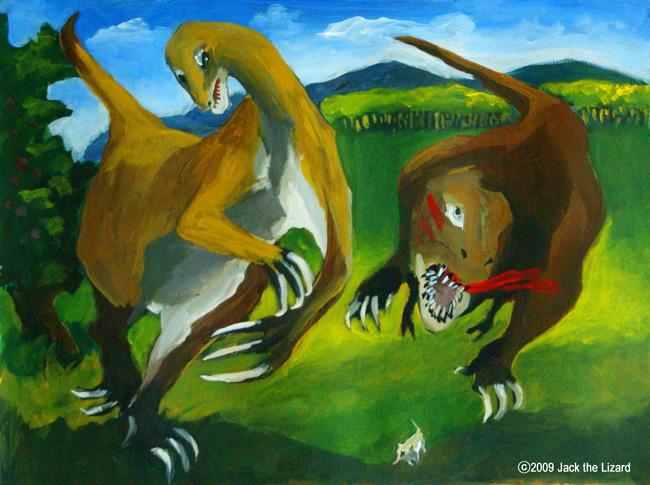 Therizinosaurus and Tarbosaurus