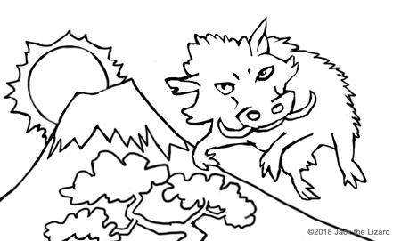 Coloring Pages of 2019 Year of the Hog