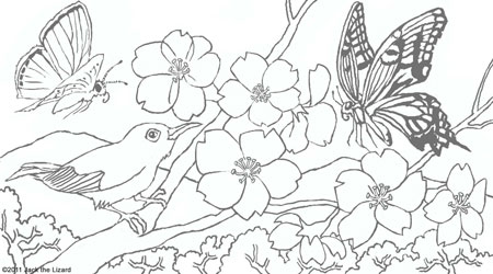 Coloring Pages of Spring Flowers