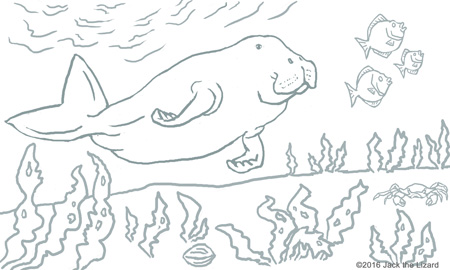 Coloring Pages of Dugong