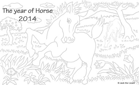 Coloring Pages of Horse