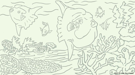 Coloring Pages of Ocean Sunfish