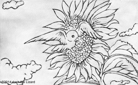 Coloring Pages of Sunfloser