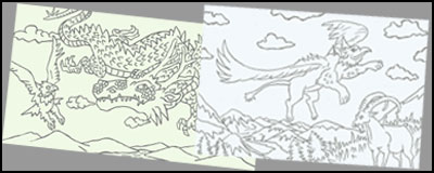 nimals in Legend Coloring Pages
